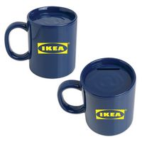 Blue Coffee Mug Bank