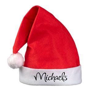 Custom Printed Traditional Santa Hats