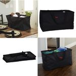 Custom Canvas Utility Tote   Reusable Grocery Shopping Bag   Laundry Carry Bag
