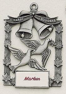 Custom Printed Peace Dove Christmas Ornaments