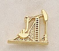 Pump Jack Marken Design Cast Lapel Pin (Up to 3/4
