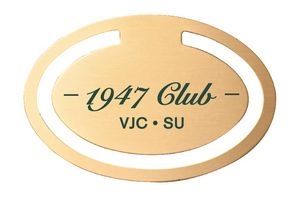 Custom Imprinted Oval Shaped Bookmarks