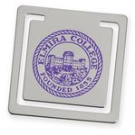 Heavy Gauge Square Bookmark - Silver
