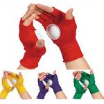 Fingerless Cheering Gloves With A Plastic Disk
