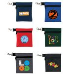 Polyester Golf Tee Zippered Pouch