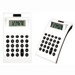 Custom White Plastic Solar Calculator