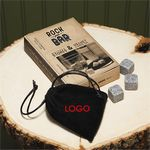 Custom 9-Whiskey Stones in Pouch Gift Set
