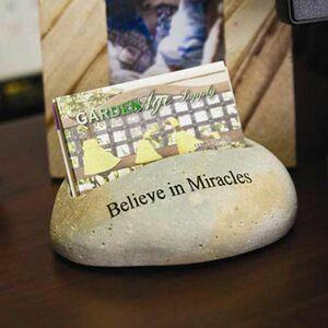 Natural Stone Business Card Holder (Sandblasted)