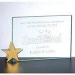 Custom Achievement Award W/ Brass Star Holder (5x7)