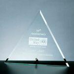 Custom Beveled Triangle Award w/Aluminum Pole