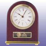 Custom Rosewood Clock With G/P Accent - Arch Style