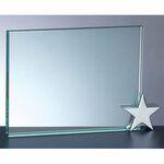 Custom Achievement Award W/ Chrome Star Holder (4x6)