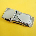 Custom 2 Tone Satin Chrome Money Clip (engraved)