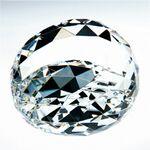 Custom Gem Cut Crystal Paperweight - Clear