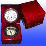 Custom Captain's Box W/Clock And Compass