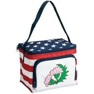 Stars & Stripes 6 Can Cooler/Lunch Bag