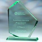 Custom Summit Jade Glass Award - Medium (Screened)