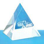 Custom Optical Crystal Pyramid (Screened)