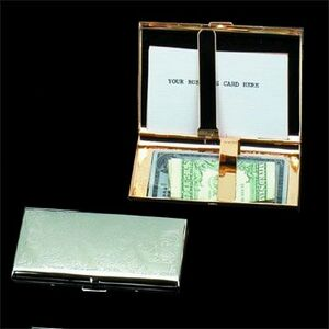 Cigarette Case Style Business Card Holder (Screened)