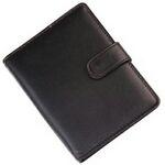 Custom Leather Pocket Book Solar Calculator