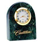 Custom Deluxe Solid Marble Desktop Quartz Clock