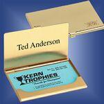 Custom Brass Business Card Case