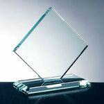 Custom Square Diamond W/ Slant Edge Base Award (Medium)