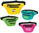 Custom New Neon Color Three Zippered Fanny Pack