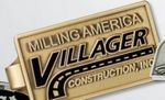 Custom Stock Gold-Tone Rectangular Money Clip with Attached 7/8