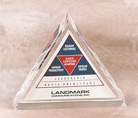 "Lucite Triangle Embedment (3 1/2""x1"")"
