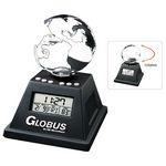 Custom Solar Powered Moving Globe w/Alarm Clock
