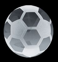 Crystal Soccer Ball Paperweight