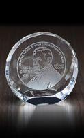 Tilting Circle Paperweight Award