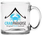 Custom 13 Oz. Clear Glass Coffee Mug