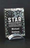 Superstar Vertical Jade Crystal Award