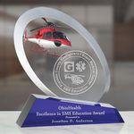 Custom Large Parabola Optical Crystal Award