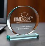 Custom Ellipse Jade Crystal Award