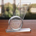 Custom Sublimity Optical Crystal Award
