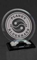 Large Tangent Jade Crystal Award