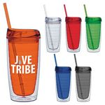 Custom 15 Oz. Cool Cup Collection w/Color Matching Lid & Straw