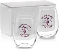 15 Oz. Stemless White Wine Gift Set