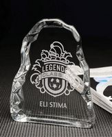 Large Jade Iceberg Crystal Award