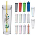 Custom 15 Oz. Pittsburgher Cold Collection Double Wall Tumbler
