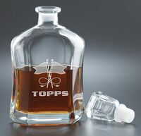 26 Oz. Capital Decanter - Etched