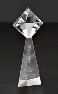 Diamante Tower Optical Crystal Award
