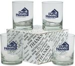 Custom Thank You Set of 4 Double Old Fashion Glasses