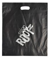 "Die Cut Handle Plastic Bags Frosted 3 Mil. (16""x19"")"