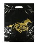 Custom Plastic Shopping Bag 2 Mil. Shopping Bag W/ Patch Handle 12