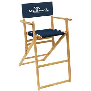 Us Made Deluxe Solid Oak Hardwood Frame Bar Height Folding Chair 9500 Ideastage Promotional Products