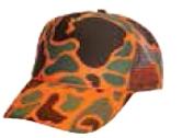 Neon Camouflage Cap w/ Mesh Back (Blank)